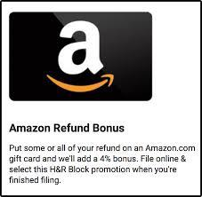 H&R Block Giftcard Bonus Refund Offer for 2020