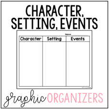 Character Setting Events Graphic Organizers