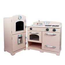 Retro Play Kitchen Set Wooden Kids Play Kitchen Kidkraft Pink Retro Knock Wood Toys