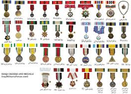 Army Medal Chart Iraqi Military Orders Medals And Ribbon Chart Middle East