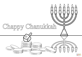 chappy chanukah coloring page free printable pages throughout hanukkah