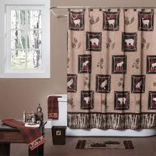 plain design lodge shower curtain cozy inspiration wooded river collection cabin place