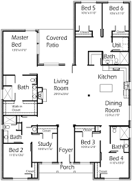 ... 6 Bedroom 3037 Sq Ft 6b4b W Study Min Extra Space House Plans By Korel  Home At Floor ...
