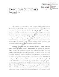executive summary example business executive summary