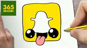 Comment Dessiner Logo Snapchat Kawaii Tape Par Tape Dessins