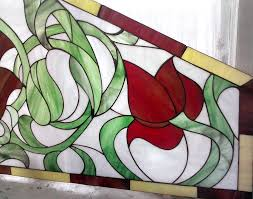 order the scarlet flowers stained glass glass flowers