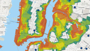 nyc's newest flood zones map  animal