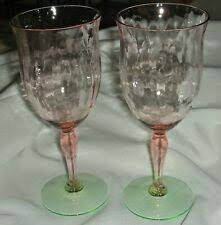 Wine Glass <b>Pink Crystal Elegant</b> Glassware for sale | eBay