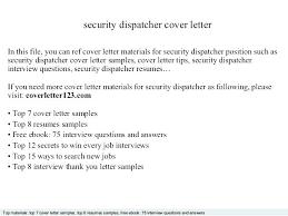 Dispatcher Resume Police Dispatcher Resume Security Dispatcher Cover