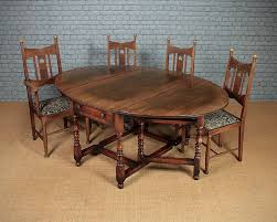 Antiques Atlas Large Oak Gateleg Dining Table