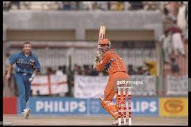 Peter Cantrell of Holland strikes the ball in his innings against... News  Photo - Getty Images