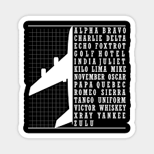 Check out our phonetic alphabet selection for the very best in unique or custom, handmade pieces from our wall hangings shops. Phonetic Alphabet Airplane Pilot Flying Aviation Phonetic Alphabet Airplane Magnet Teepublic