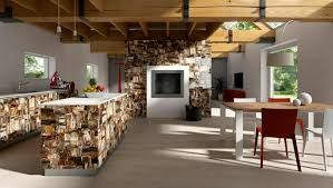 Wood Interior Design Commercial Interior With Retro Petrified Wood Stone By Antolini