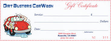 gift certificates dirt buster s roseville granite bay
