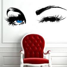 <b>YOYOYU</b> Wall Sticker Eyelashes Decal Eyebrows Decal Lashes ...