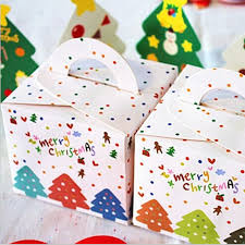 Decorative Cookie Boxes Lovely Multi Trees Merry Christmas Cookie Box Dessert Gingerbread 69