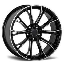 Rep 768 Bm Black Milled 19x8 5 5x120 Wheel Tyre Package Cnc Wheels