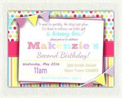 Birthday Invitations For Girl University Edu Info