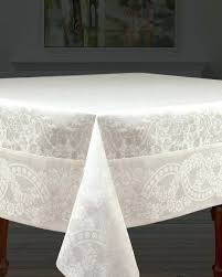 white cotton tablecloth tablecloths whole glass wine table chairs dining room painting wall 90 round full