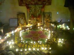 mandir decoration on diwali