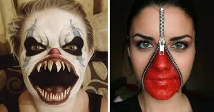 260 of the creepiest makeup ideas