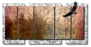 flight of the eagle metal wall decor