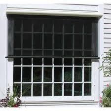 charcoal vinyl exterior solar shade