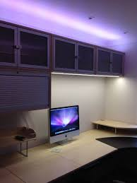 a creative use of led strip lighting in this office room reno strip lighting led strip and led