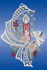 Plauener Spitze Fensterbilder Weihnachten Mit Swarovski