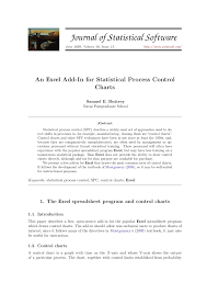 Control Chart Excel Pdf An Excel Add In For Statistical Process Control Charts