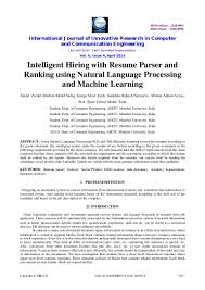 Machine Learning Resume Resume For Study