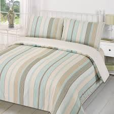 Duvet Quilt Cover with Pillowcase Bedding Set Tenby Stripe Aqua ... & Duvet-Quilt-Cover-with-Pillowcase-Bedding-Set-Tenby- Adamdwight.com