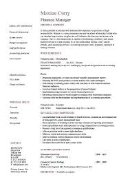 Financial Resumes Examples Finance Resume Template Click Here To
