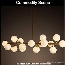 moden art pendant light gold black magic bean led lamp living dining room led striplight glass pendant lamp fixtures lighting direct pendant lights