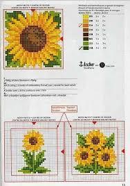 Free Sunflower Cross Stitch Pattern Stitching Biscornu