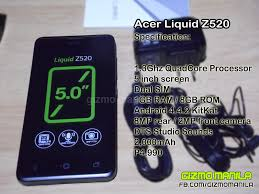 Recently i bought acer liquid z520 and im totally disapointing about very poor quality of the both cameras , even in day light as well. Acer Liquid Z520 Quick Review Gizmo Manila