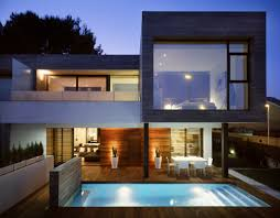 Architecture:Minimalist Modern Home Design With Amazing Architecture Semi  Detached Homes With Small Pool And