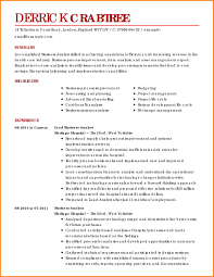 Business Resume Templates New Sample Business Resume Template Resume For Study Business Resume