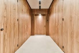 luxury wooden panels in soft illumination