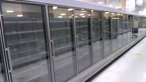 freezer s beautiful used glass door supermarket coolers and freezers in stock