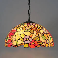 11 stained glass dining room light fixtures tiffany european style stained glass flowers series rose pendant