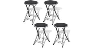 Folding <b>Bar Stools 4 pcs</b> Faux Leather - Matt Blatt