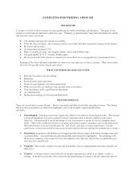 Guidelines For Writing A Resume | Dadaji.us