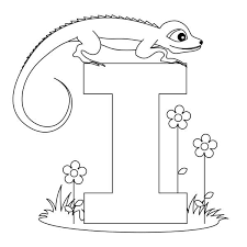 Small Picture I letter for iguana coloring page Download Print Online