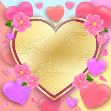 Pictures Of Hearts And Flowers Valentines Day Background With Hearts And Flowers Pastel Colors
