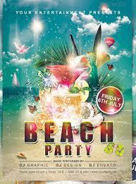 Beach Flyer 24 Amazing Psd Beach Party Flyer Templates Designs Free Beach Party