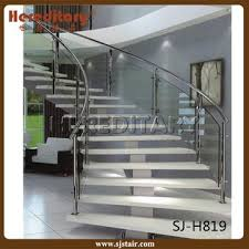china modern design glass railing arch spiral staircase
