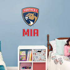 florida panthers stacked personalized name giant nhl transfer decal fathead