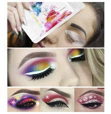 60pcs gentle cat eye eyeliner stencil eye shadow guide models template shaper beauty makeup tools