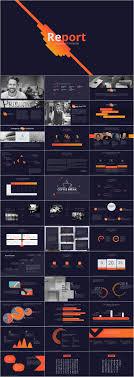Dark Background Report Powerpoint Template Pcslide Com